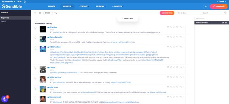 keyword monitor sendible