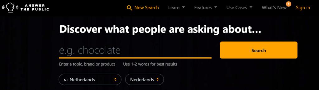 answer the public searchbar